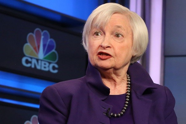 CriptoNews janet-yellen Bitcoin in calo dopo intervento Janet Yellen