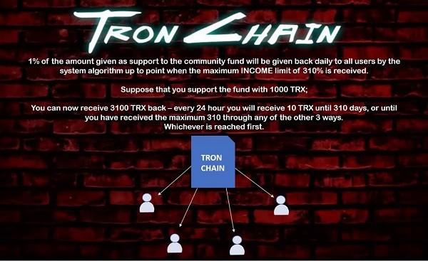 CriptoNews tronchain TronChain, scam basato su Tron